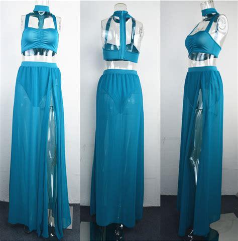Dear Fashion Ask Fashion 24 by Wholesale 2 Black High Slit Maxi Dress Bt 922