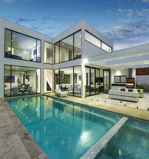 Cool Houses With Pools 25 best ideas about contemporary houses on pinterest
