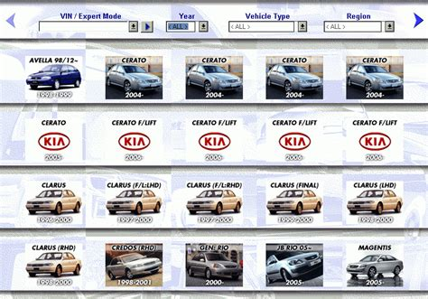 Kia Parts Catalogue Kia Microcat Spare Parts Catalog
