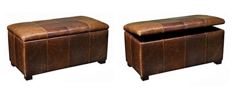 leather lift top ottoman leather upholstered patchwork storage chest large club