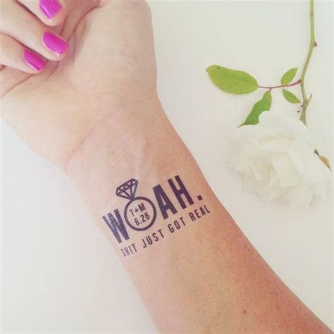 mini trend alert temporary tattoos for your wedding