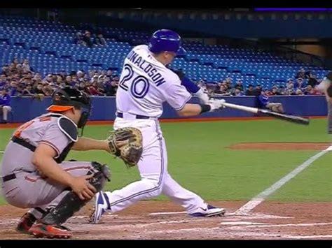 josh donaldson swing josh donaldson swing slow mo frame by frame youtube