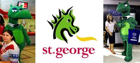st george bank 25 bank mascots