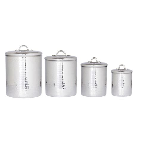 old dutch 4 pc copper kitchen canister set old dutch 4 pc stainless steel hammered canister set with