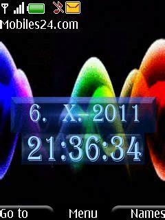 themes clock nokia 6500 colorful clock free nokia 6500 slide theme download