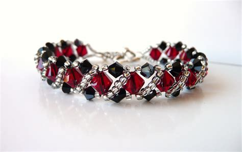 crystals for jewelry swarovski beaded jewelry bracelet bead woven