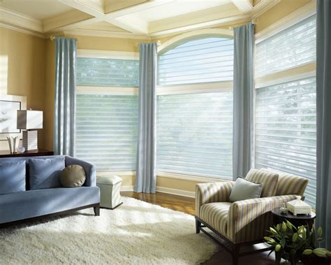 contemporary window treatments for living room window coverings
