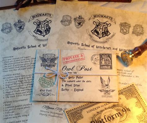 Hogwarts Acceptance Letter With Owl harry potter gift a lost in the owl post harry