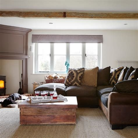 Warm and cosy living room   Living room decorating