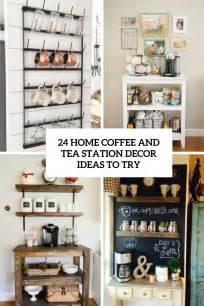 Coffee Kitchen Decor Ideas 24 home coffee and tea station d 233 cor ideas to try