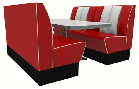 Foam Upholstery Memphis American Diner 4 Seater Retro Booth Set