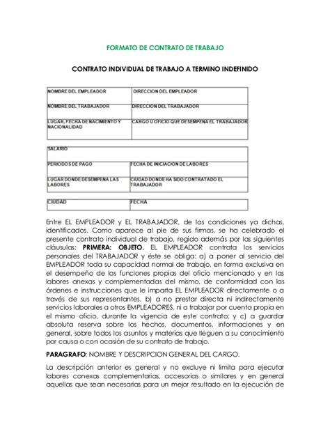 formato para liquidar contrato de trabajo a termino fijo contrato indefinido y afiliaciones