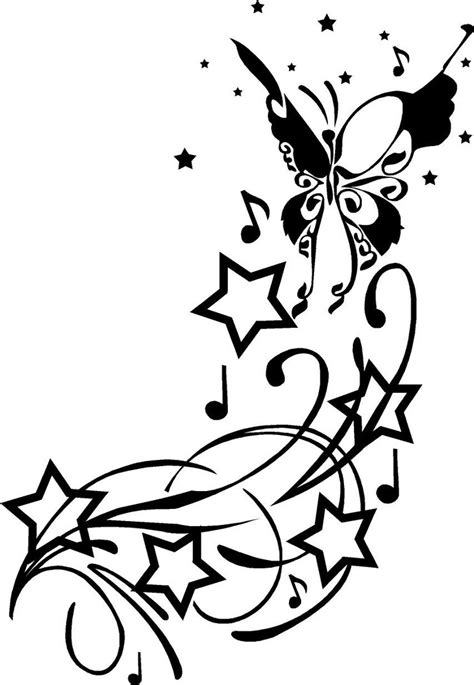 stars with swirls tattoo designs and swirl designs clipart best