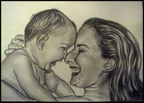 imagenes a lapiz para una madre el arte del dibujo retrato a l 225 piz madre e hija