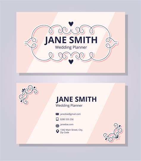 Wedding Business Cards Templates Free by Wedding Planner Business Card Template Free