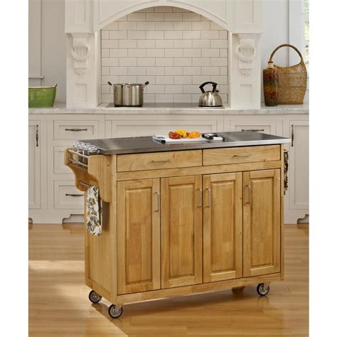 home styles create a cart natural kitchen cart with quartz home styles create a cart natural kitchen cart with
