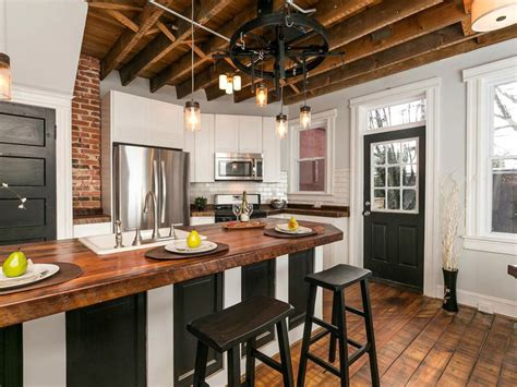 white and black kitchen island with cherner counter stools 23 reclaimed wood kitchen islands pictures designing idea