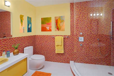red and yellow bathroom ideas 21 sensational bathrooms with the ravishing flair of red