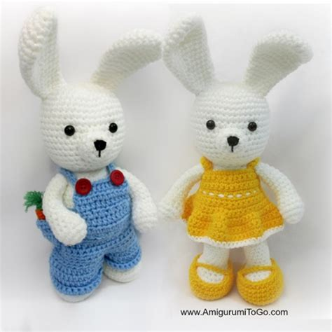 amigurumi pattern free bunny dress me bunny boy and girl free amigurumi pattern