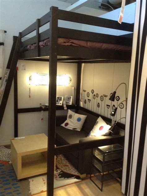 ikea full loft bed pictures  pin  pinterest