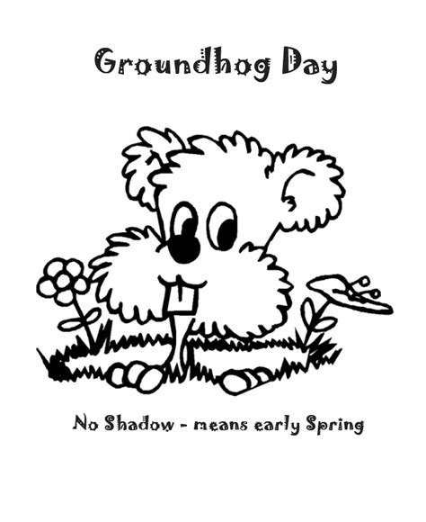 groundhog day meaning if no shadow groundhog day coloring pages no shadow means early
