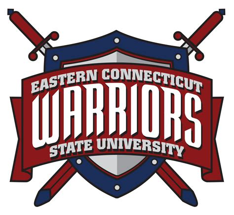 eastern connecticut state file eastern connecticut state warriors logo