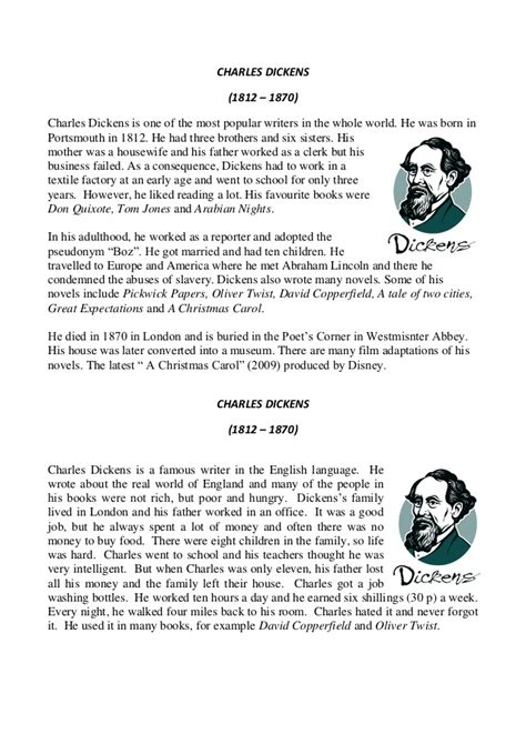 charles dickens biography slideshare charles dickens biographies