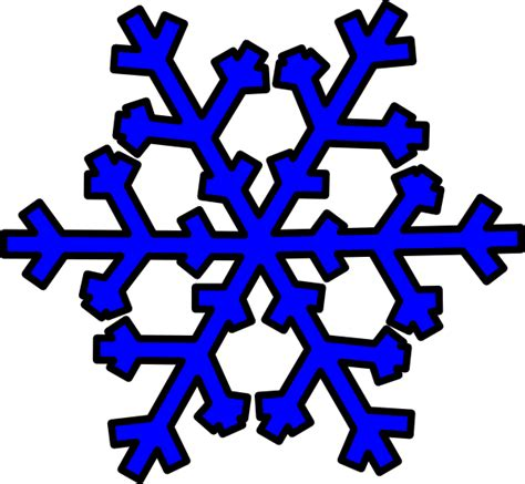 blue snowflake free clipart clipart suggest