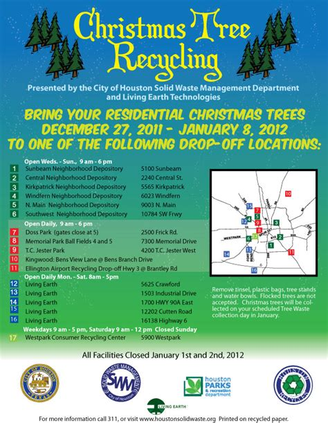 christmas tree recycling houston rainforest islands ferry