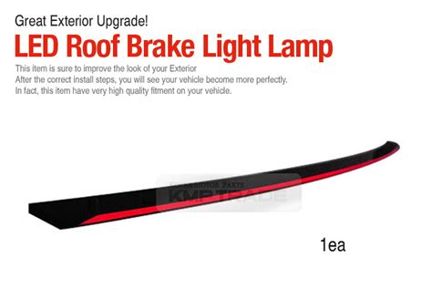 How To Install Led Light Bar On Roof Kmp Trade A6 Style Led Rear Roof Brake Stop Light L Bar Black For Renault Car
