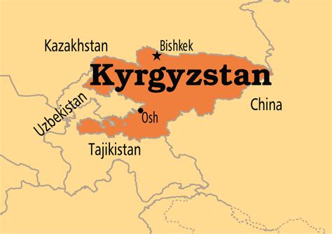kyrgyzstan in world map kyrgyzstan operation world