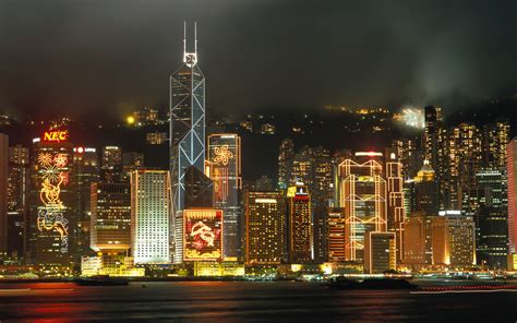 curtain city hong kong 壁纸1920 215 1200香港海旁夜景壁纸hongkong travel hongkong night view壁纸