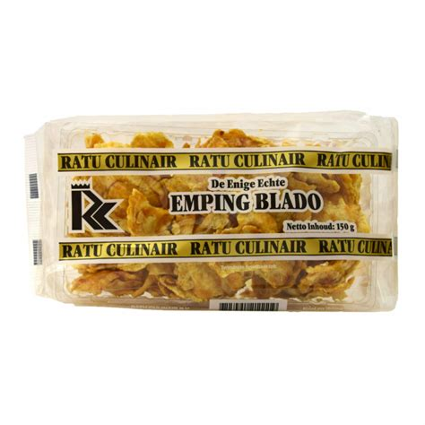 ratu culinair emping blado  krupuk fried snacks