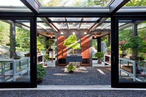 backyard glass house glass house in the garden modern shed boston by