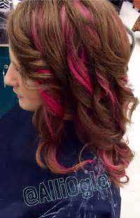 pink highlighted hair 50 magenta pink highlights light brown hair h a i r z