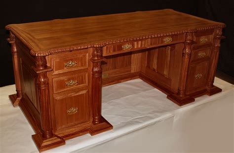 custom carved solid wood executive doctor s desk