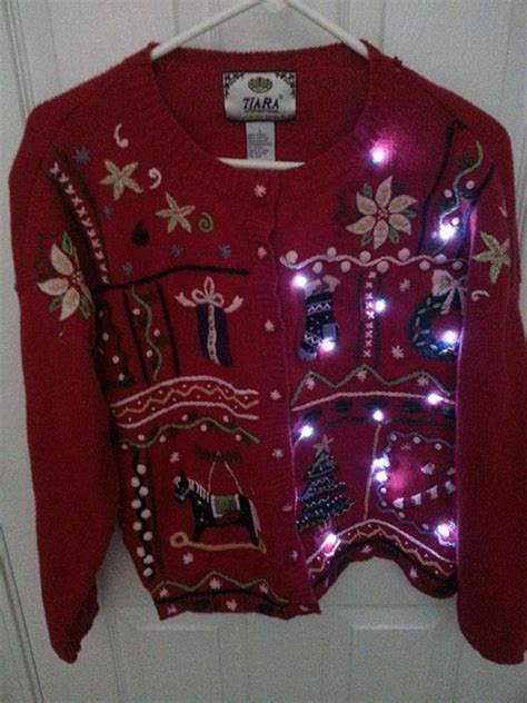 best funny ugly christmas light sweaters for girls