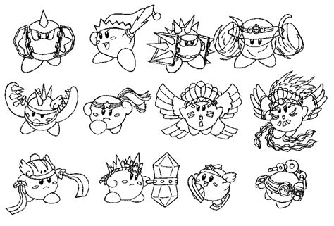 kirby characters coloring pages concept art kood kirby s compound abilities 1 2 by