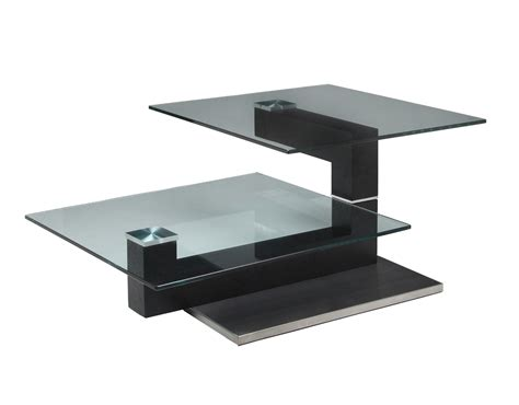 Glass Steel Coffee Table Pastel Janice Rectangular Glass Coffee Table In Stainless Steel Wenge Wood Beyond Stores