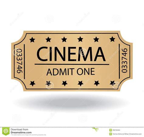 cineplex no passes cinema tickets stock images image 33218494