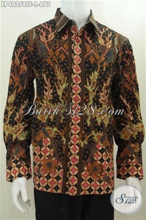 desain baju batik lelaki baju batik mewah seragam kerja lelaki kantoran karir