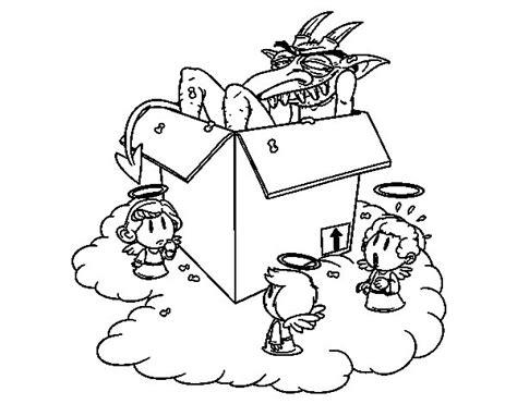 imagenes de angeles y demonios para dibujar a lapiz dibujo de angeles y demonio para colorear dibujos net