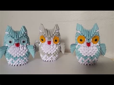 3d Origami Owl - how to make 3d origami owl medium