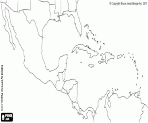 coloring page map of central america maps coloring pages printable games