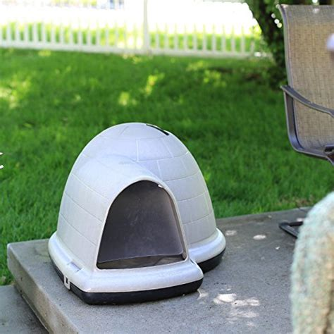 indigo dog house large petmate indigo dog house with free dog door tan large 43 8l x 34w x 25 8h in