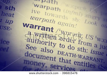Definition Of Search Warrant Warrants Stock Photos Royalty Free Images Vectors