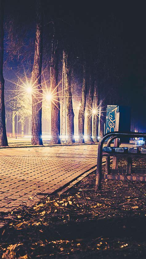 night bench no43 street night bench nature dark