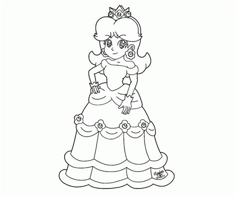 coloring pages of daisy from mario rosalina peach and daisy coloring pages coloring home