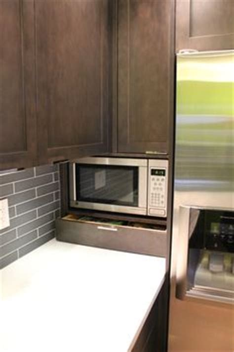 Kitchen Craft Salem Maple Ecclectic Small Space On Built In Microwave