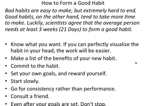 how to form habits to build a successful